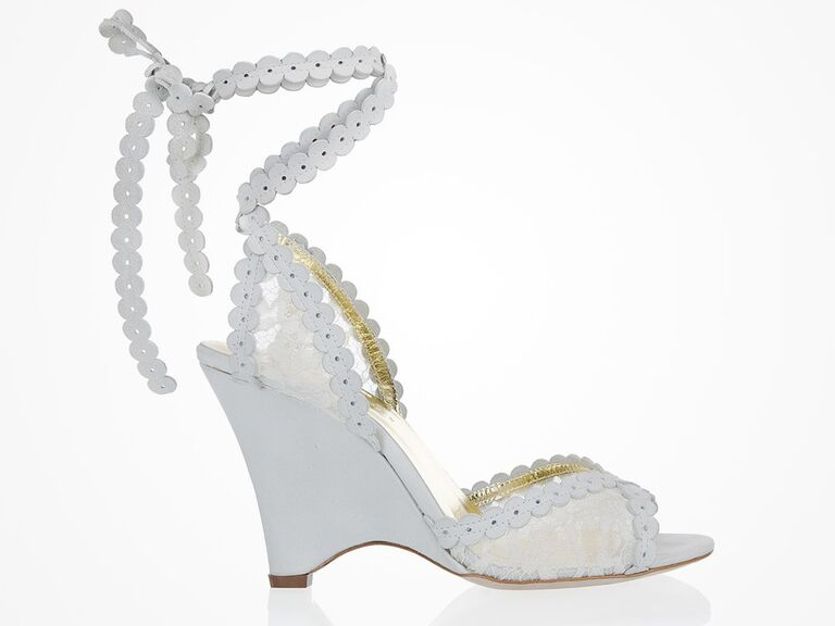 Freya Rose white wedding wedges