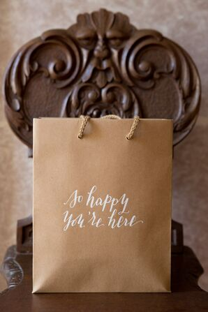 Hand-Lettered Welcome Bags
