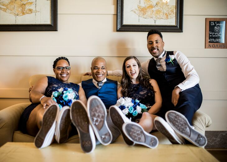 Wedding Party In White Chuck Taylor Sneakers