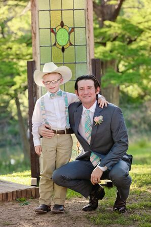 Western-Inspired Ring Bearer With Cowboy Hat