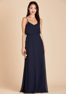 Birdy Grey Gwennie Bridesmaid Dress in Navy V-Neck Bridesmaid Dress