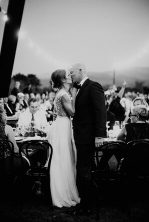 Black-and-White Wedding in Palm Springs