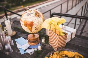 Gift Table with Globe Decor Piece