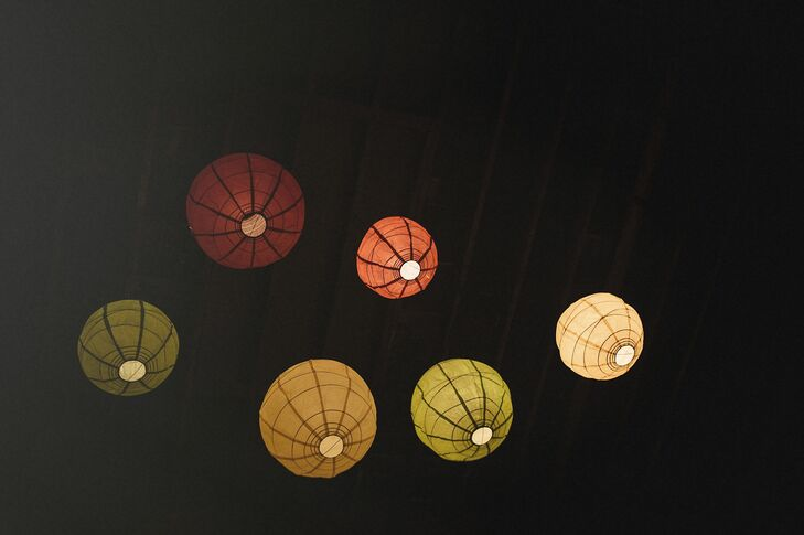 Paper lanterns hung from the ceiling and added a soft glow to the room.