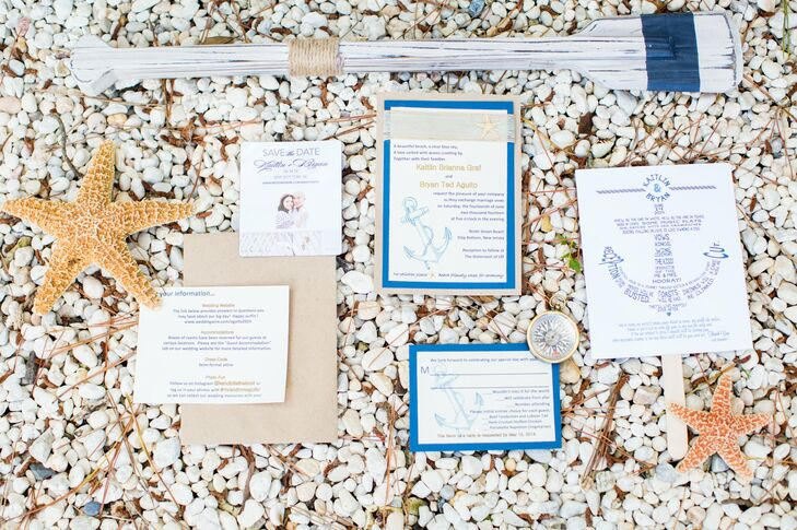 Nautical-Themed Invitation Suite