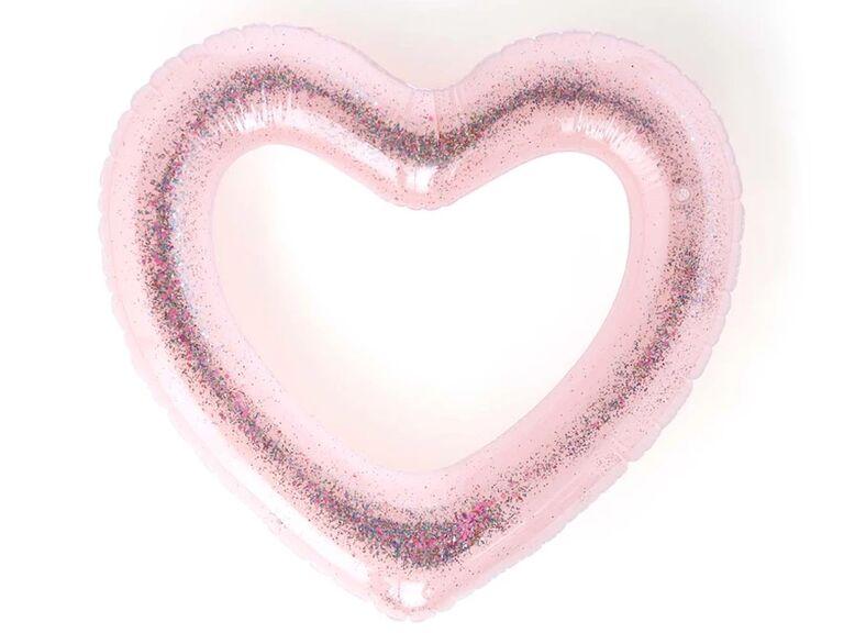 Glitter Heart Pool Float