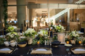 Navy and White Dinner Tables