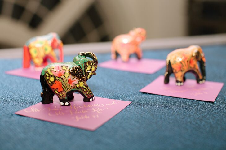 Hand Painted Elephant Indian Wedding Favors