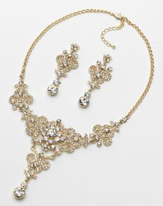 USABride Victorian Rhinestone Jewelry Set (JS-1660) Wedding Necklace photo