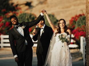 "When it came time for Leigh Weissman and Kevin Olusola to plan their wedding in Simi Valley, California, it was important for the couple, ""to have [th"