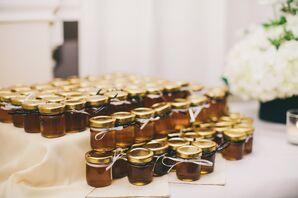 DIY Honey-Jar Wedding Favors