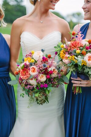 Colorful-Yet-Rustic Wildflower Bouquets