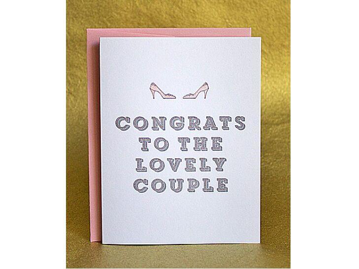 Lesbian congratulatory wedding card