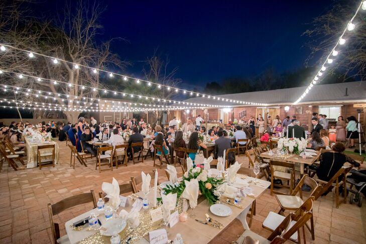 Fairy Light Reception at Whispering Tree Ranch