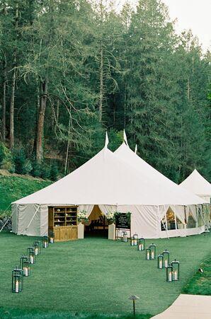 Reception Tent at Napa Valley Wedding