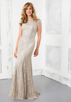 MGNY 72305 Gray Mother Of The Bride Dress
