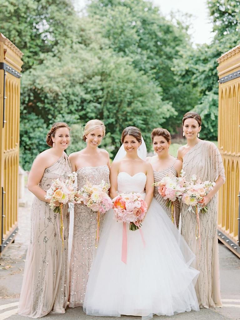 Neutral Mismatched Bridesmaid Dresses