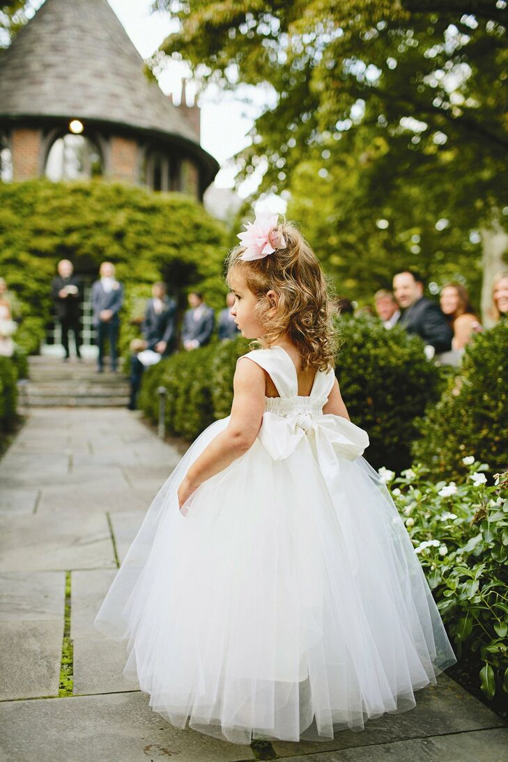 The flower girl wore an adorable white tulle gown that Amy found on etsy.com.