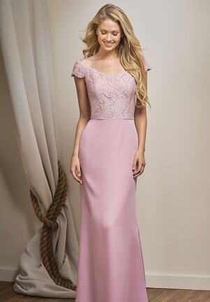 Belsoie Bridesmaids by Jasmine L204015 Off the Shoulder Bridesmaid Dress
