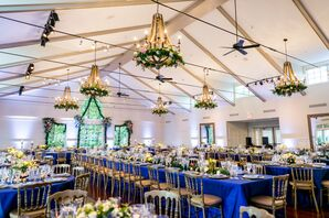 Wooden Chandeliers with Floral Wreaths