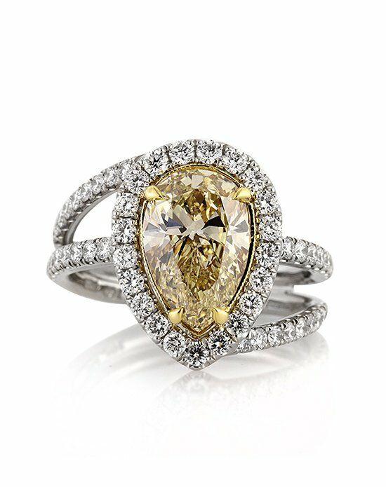 Mark Broumand 3.02ct Fancy Yellow Pear Shaped Diamond ...