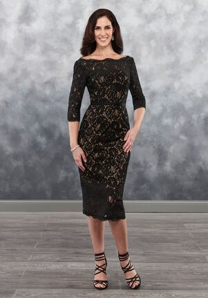 Beautiful Mothers by Mary's MB8035 Black Mother Of The Bride Dress