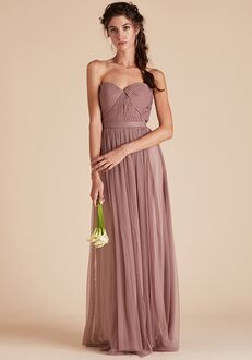 Birdy Grey Christina Convertible Dress in Sandy Mauve Strapless Bridesmaid Dress