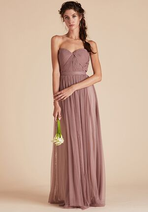 Birdy Grey Christina Convertible Dress in Sandy Mauve Strapless Bridesmaid Dress