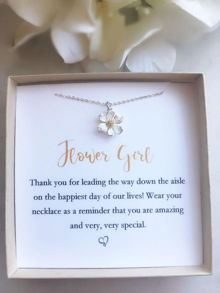Green Peridot flower girl proposal necklace