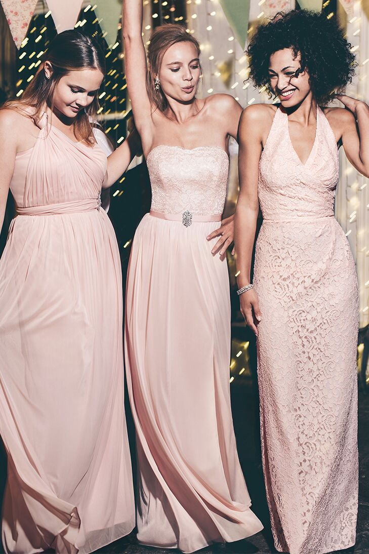 Mismatched bridesmaid dress combos same color different style ombrellifo Image collections