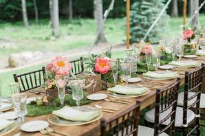 Long Wooden Farm Tables