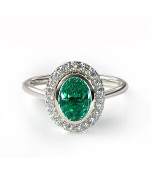 James Allen Unique Round, Oval Cut Engagement Ring