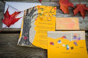 Bright Yellow Tree Invitation Suite