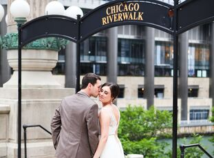 Ashley (29 and a receptionist) and Marcus DiSandro (28 and an account executive) showcased the sleek, urban beauty of the city where they fell in love