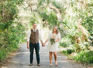 Between the custom ceremony and hand-picked vintage accents, Haylee Moffis (19 and a receptionist) and Nigel Ellis's (20 and in the U.S. Coast Guard)