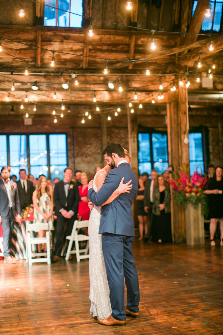 """The couple had their first dance to """"Maybe I'm Amazed"""" by Paul McCartney. """"It really sums up how lucky we feel to be in a marriage where we take each other exactly as we are at any given moment,"""" says Jordy."""