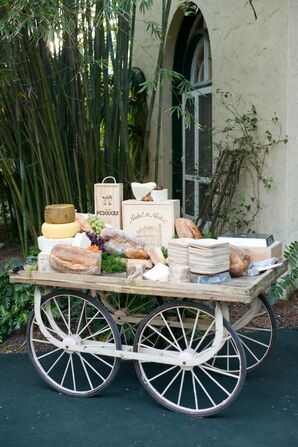 Bread and Cheese Cart for Cocktail Hour