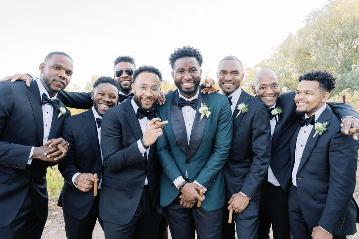 Groomsmen at Wedding in Yountville, California