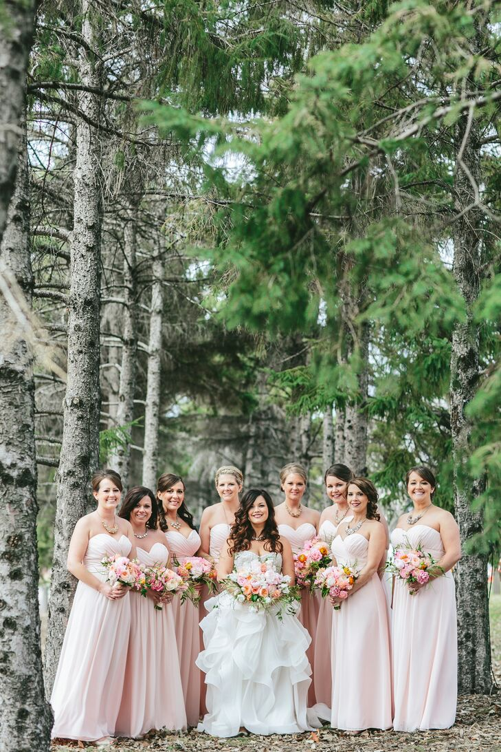 Mestads Blush Pink Bridesmaid Dresses