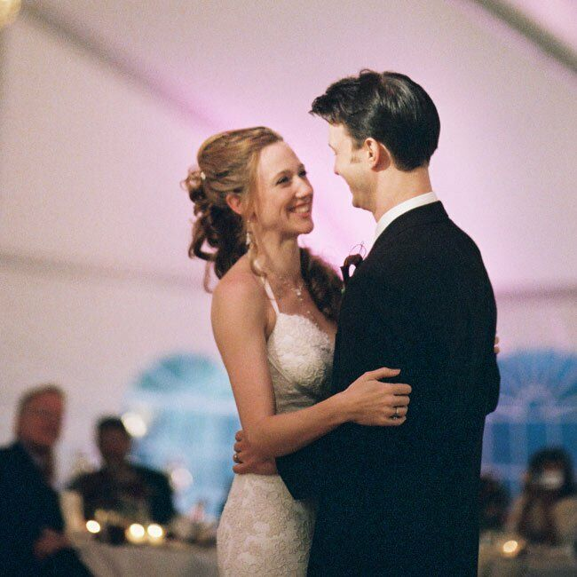 "The newlyweds took their first dance to Van Morrison's ""Sweet Thing."