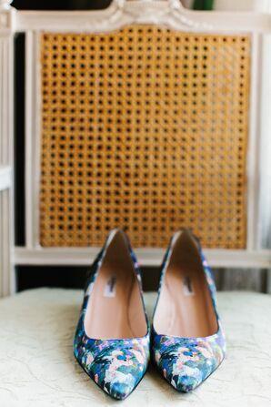Blue Watercolor L.K. Bennett Shoes