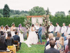 Bohemian Woodinville Lavender Farm Ceremony