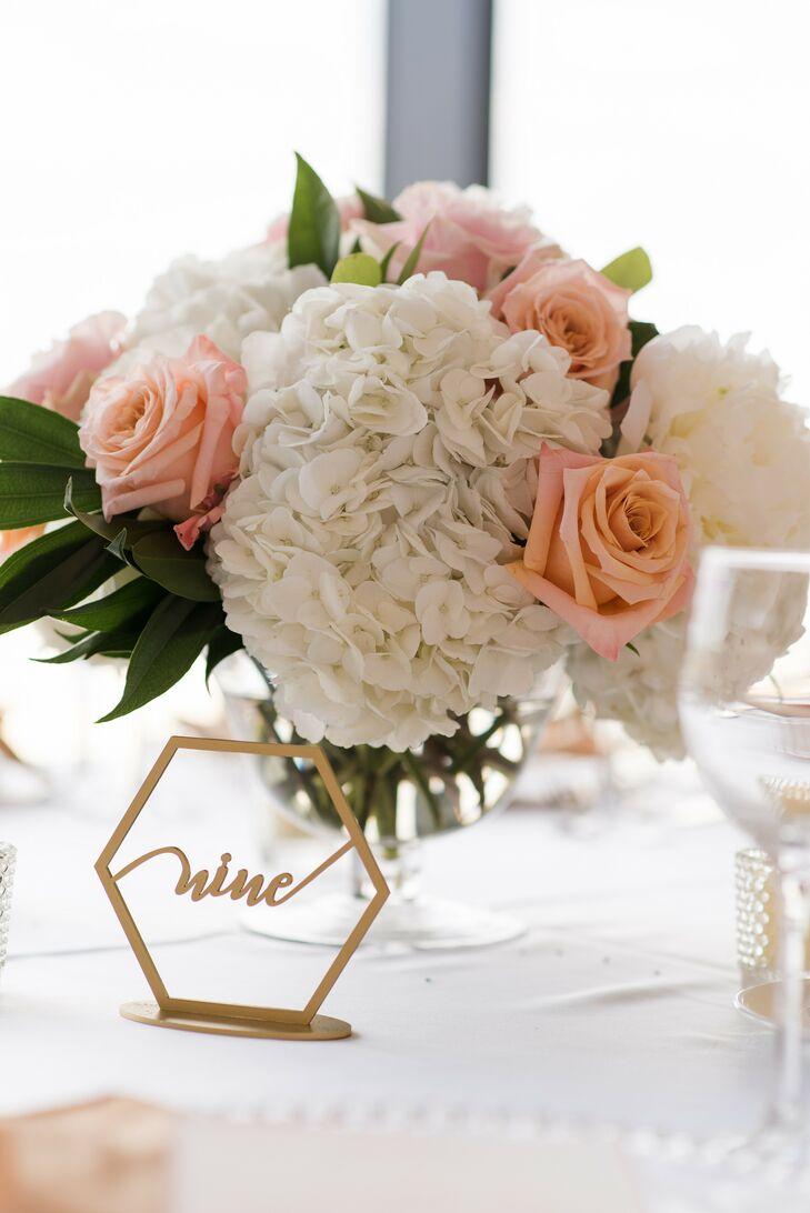 Hydrangea Centerpieces at Boston Wedding