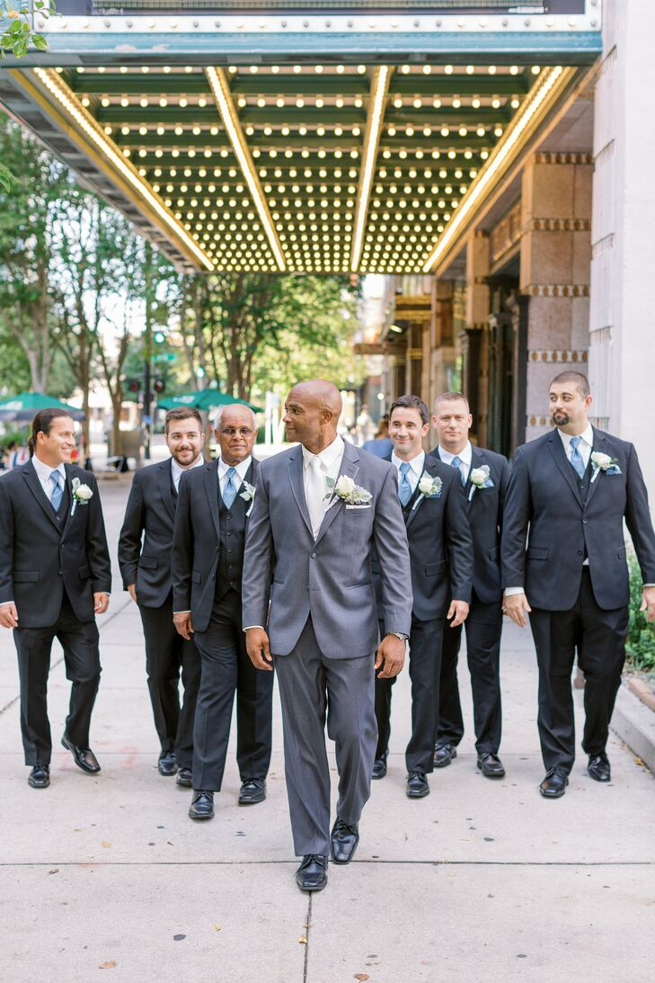 Groomsmen Portraits at The Vault in Tampa, Florida