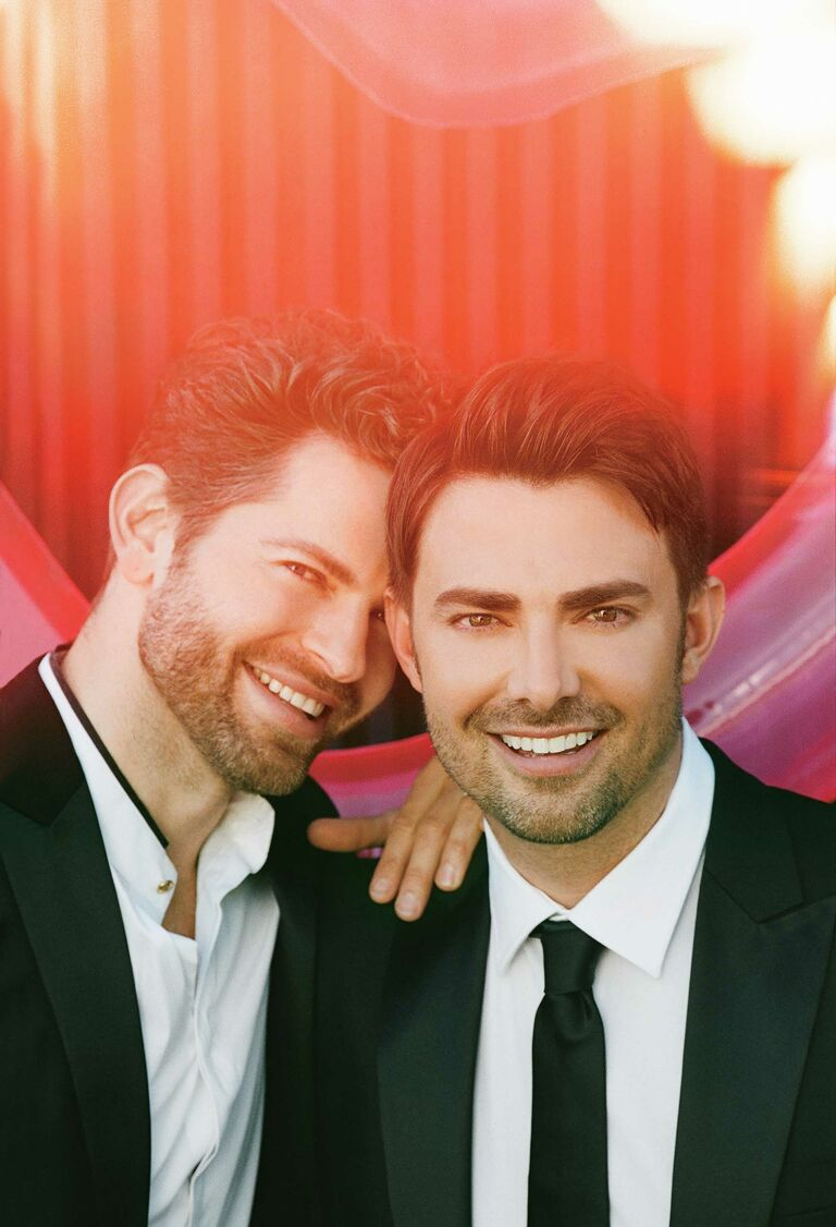 Jonathan Bennett and Jaymes Vaughn smiling