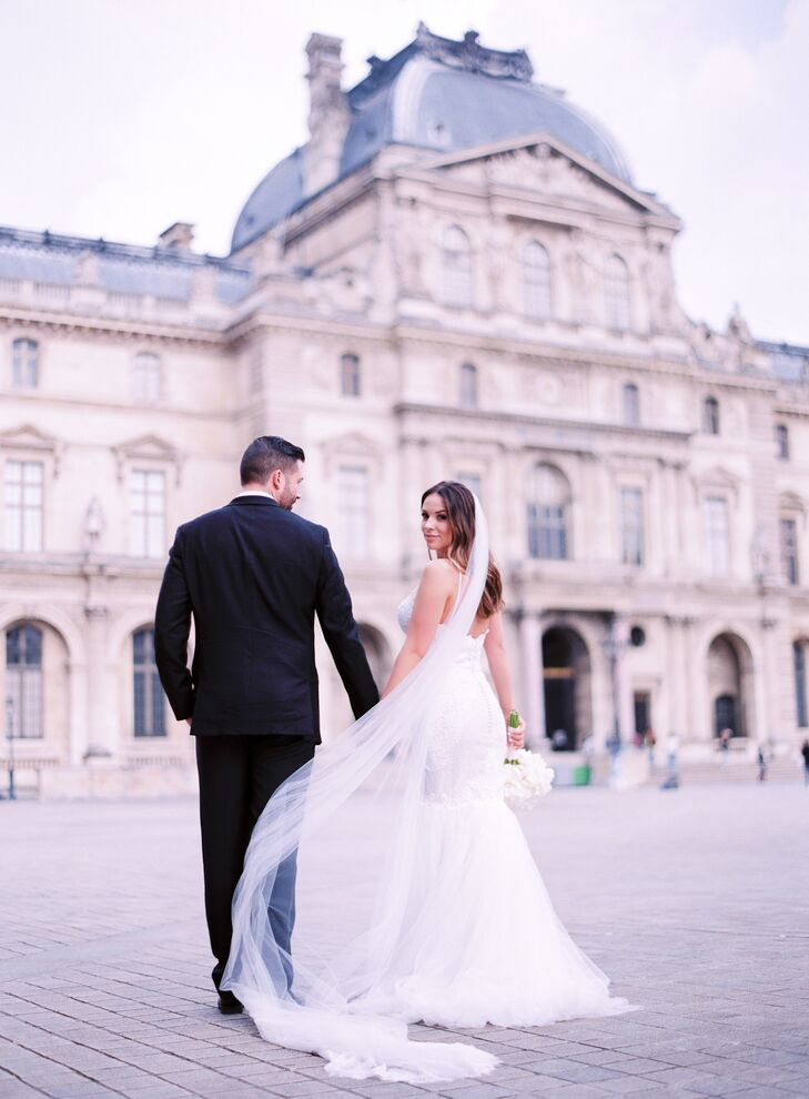 """Our wedding day was incredible. It was filled with so much love and laughter and quite a few happy tears,"" Morgan says. ""From start to finish, it was easily the best day of our lives. Plus, we have an excuse to visit Paris often."""