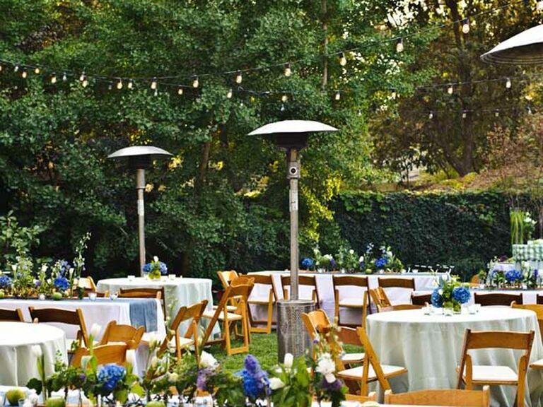 Backyard Wedding Ideas Heating Lamps