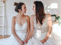 allie sam wedding dress shopping brides