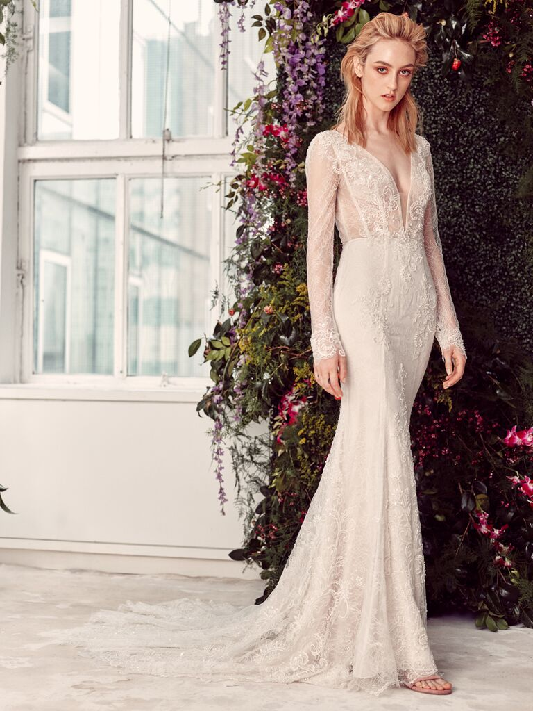 Rivini by Rita Vinieris Spring 2020 Bridal Collection long-sleeve lace wedding dress