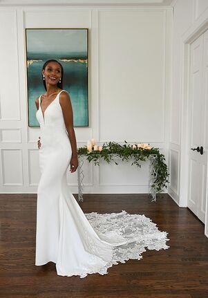 Essense of Australia D3112 Sheath Wedding Dress